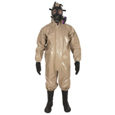 Coverall with Respirator Fitted Hood