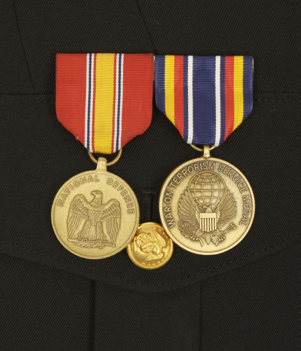 National defense service medal placement on dress