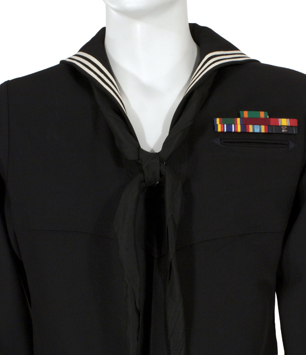 Lastest  Navy Womens Dress Blues Jacket USN Enlisted Female Uniform Blue Coat