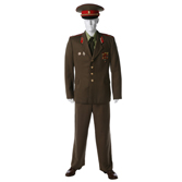 Summer Service Uniform. Officers, warrant officers and extended military servicemen - out of formation