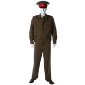 Summer service uniform with wool jacket. Officers, warrant officers and extended military servicemen - out of formation