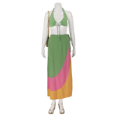 2 Piece Halter Top and Skirt