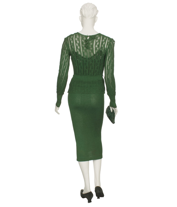 Woman's Green Day Outfit