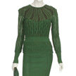 Woman's Green Day Outfit-4