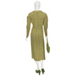 Woman's Green Day Dress-3