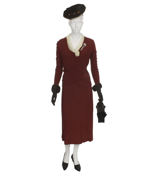 Woman's Burgundy Day Suit