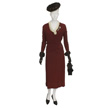 Woman's Burgundy Day Suit-1