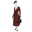 Woman's Burgundy Day Suit-2