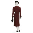 Woman's Burgundy Day Suit-3