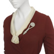 Woman's Burgundy Day Suit-5