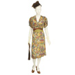 Woman's Multi Colored Day Dress-1